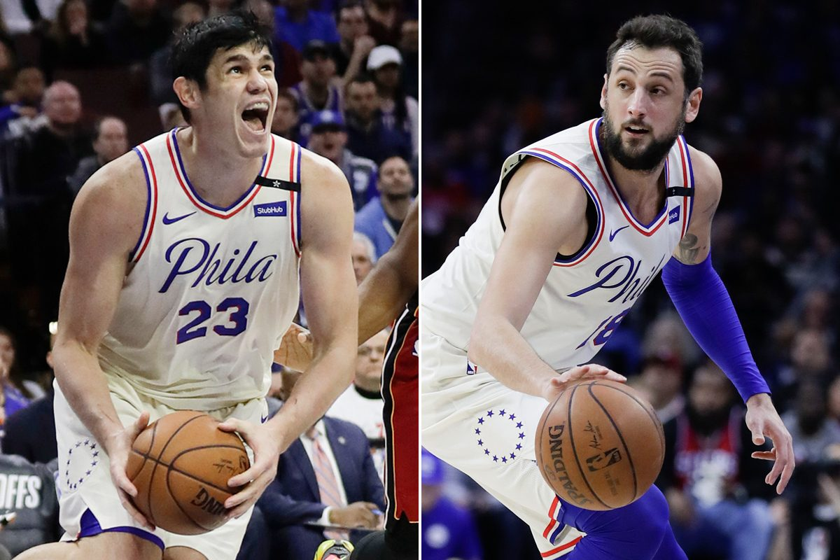 Sixers free-agent acquisitions (from left) Ersan Ilyasova and Marco Belinelli.