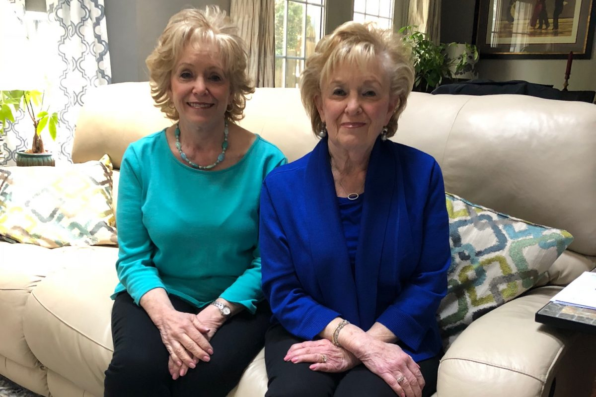 Identical twins Sharon (left) and Marilyn Alexander became cancer activists after Marilyn was diagnosed with multiple myeloma.