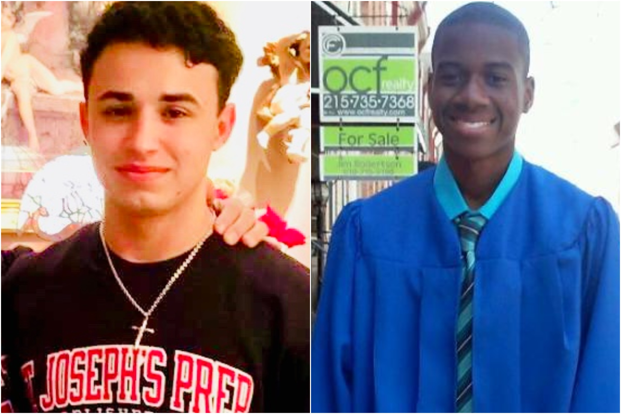 Salvatore DiNubile, left, and Caleer Miller, right. The two teens were shot dead in South Philadelphia in October 2017.