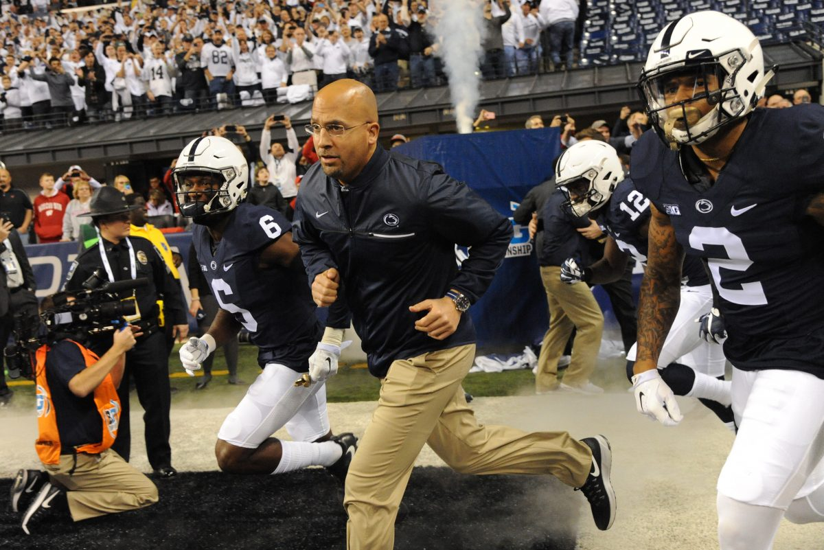 Penn State coach James Franklin had to undertake a serious rebuild on the offensive line, this year might have the biggest benefits.