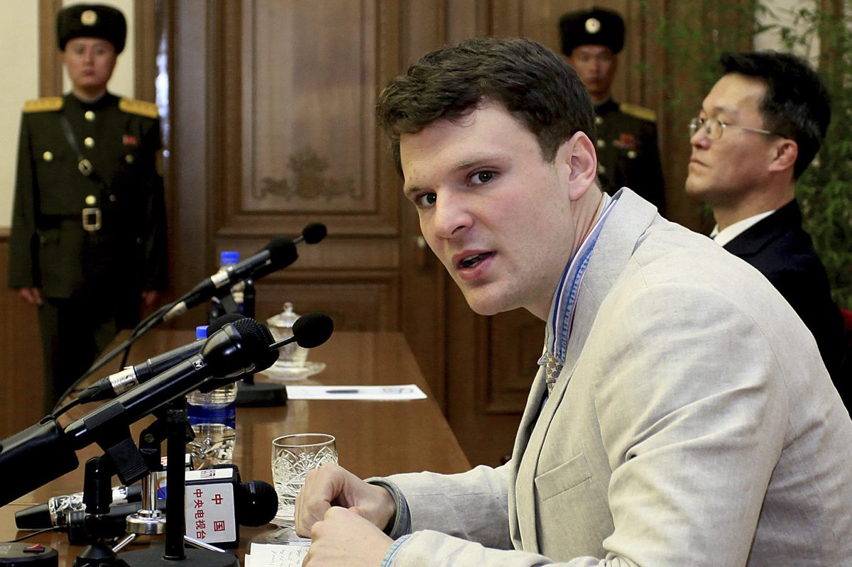 On Feb. 29, 2016, Otto Warmbier was presented to reporters by his North Korean captors.