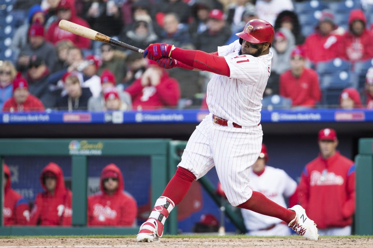 Phillies first baseman Carlos Santana's common statistics are bad, but the Phillies have been impressed with what lies deeper.
