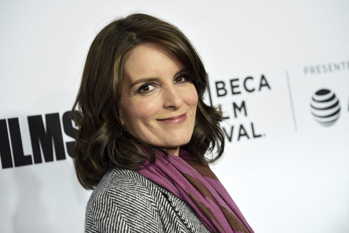 """Television producer Tina Fey attends the Tribeca Film Festival opening night world premiere of """"Love, Gilda"""" at the Beacon Theatre on Wednesday, April 18, 2018, in New York."""