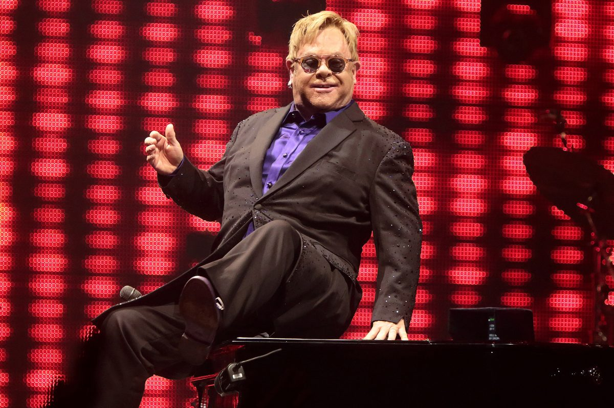 Elton John performs in Hershey, Pa. in 2016. He's one of many classic rockers who say they're calling it quits after one last tour.