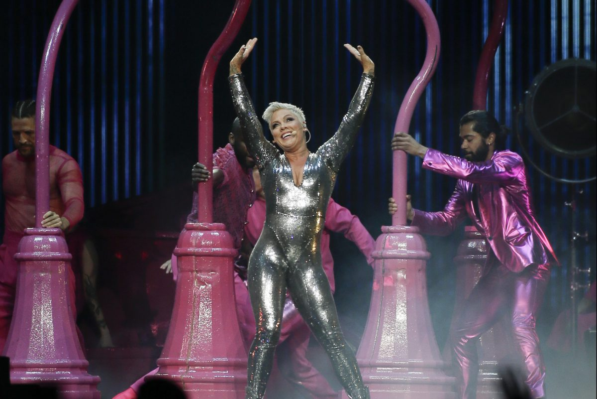 Pink, the Doylestown bred pop star born Alecia Moore, performs at the Wells Fargo Center. It's her first hometown show since the release of her Beautiful Trauma album in the fall.