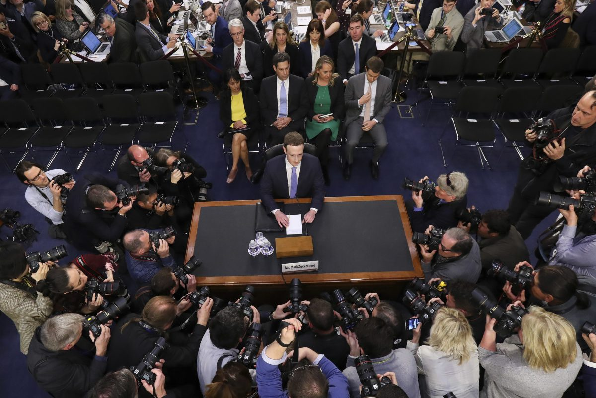 Facebook CEO Mark Zuckerberg testified before a joint hearing of the Commerce and Judiciary Committees on Capitol Hill.