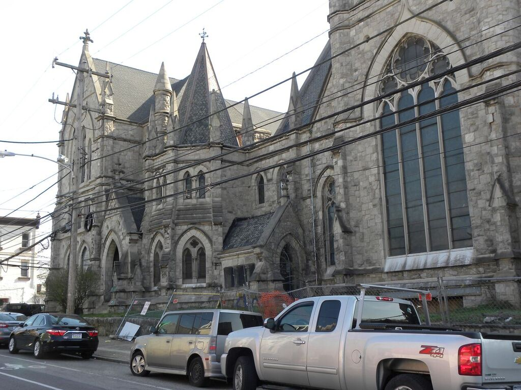 Completed in 1888, the Victorian Gothic Christ Memorial Reformed Episcopal Church at 43rd and Chestnut is about to be torn down. It was designed by Isaac Pursell, a noted church architect.