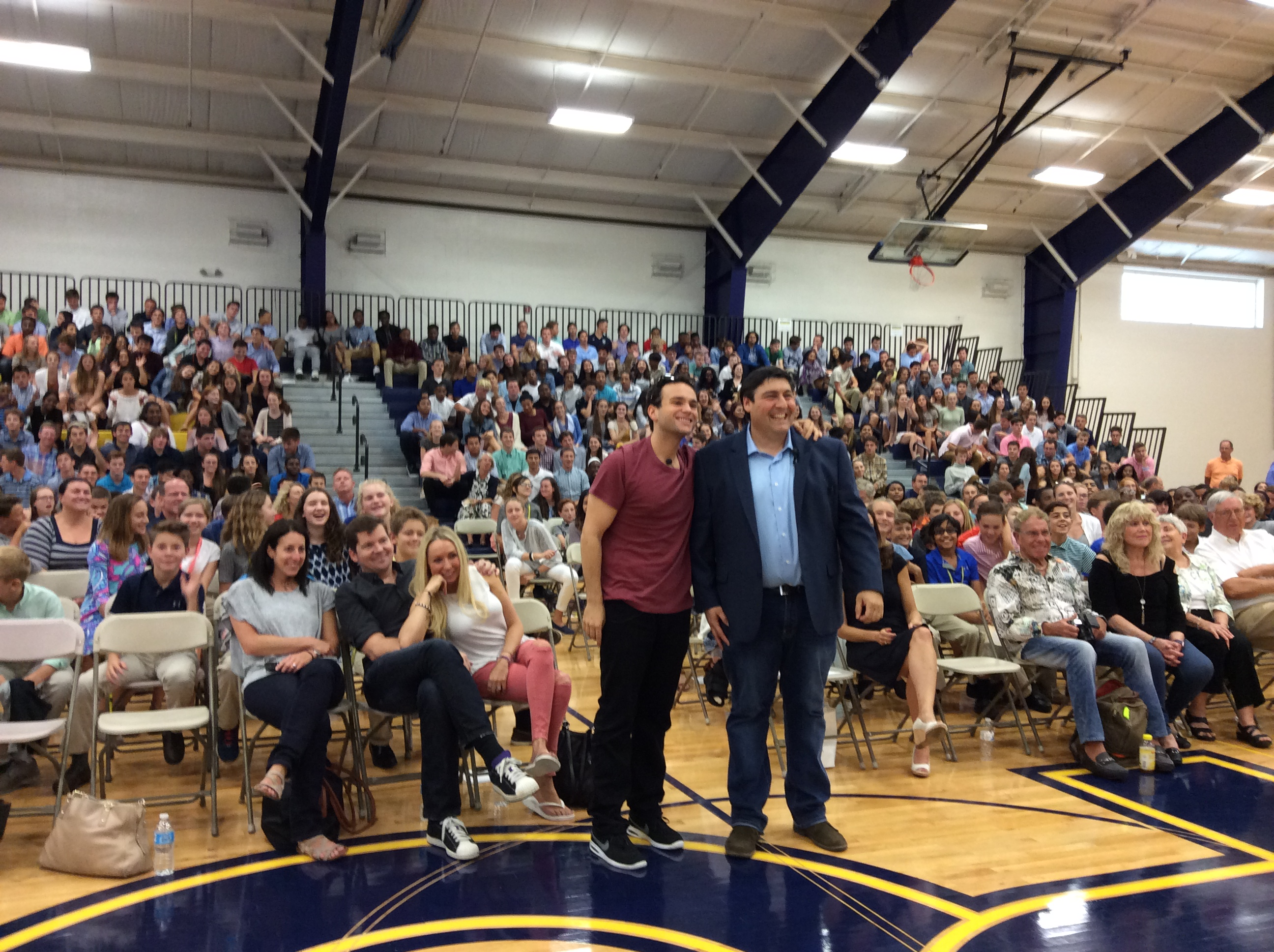 Troy Gentile and Adam F. Goldberg at Penn Charter