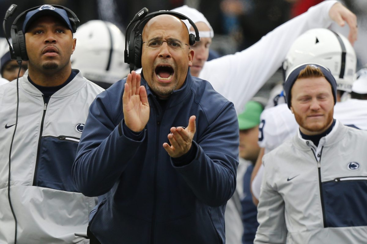 """This is just another opportunity to go out and evaluate the guys,"" Penn State coach James Franklin says about the Blue-White game."