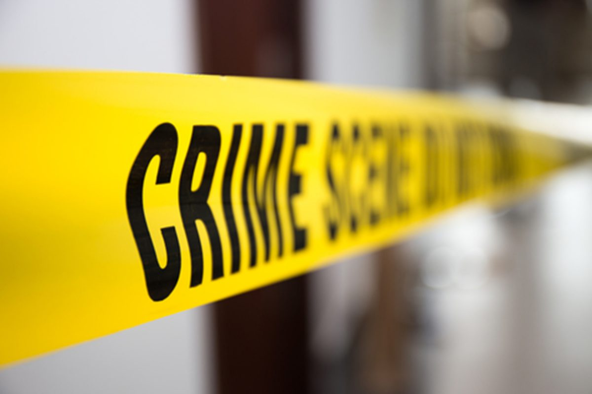 Crime scene tape in building with blurred background (Dreamstime/TNS)