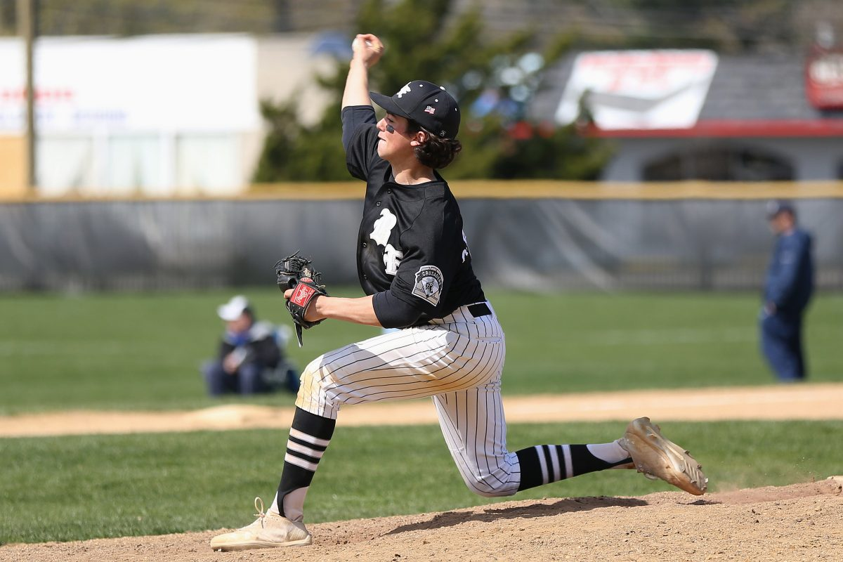 Bishop Eustace pitcher  Matt Orlando allowed just one run in the victory over St. Augustine.