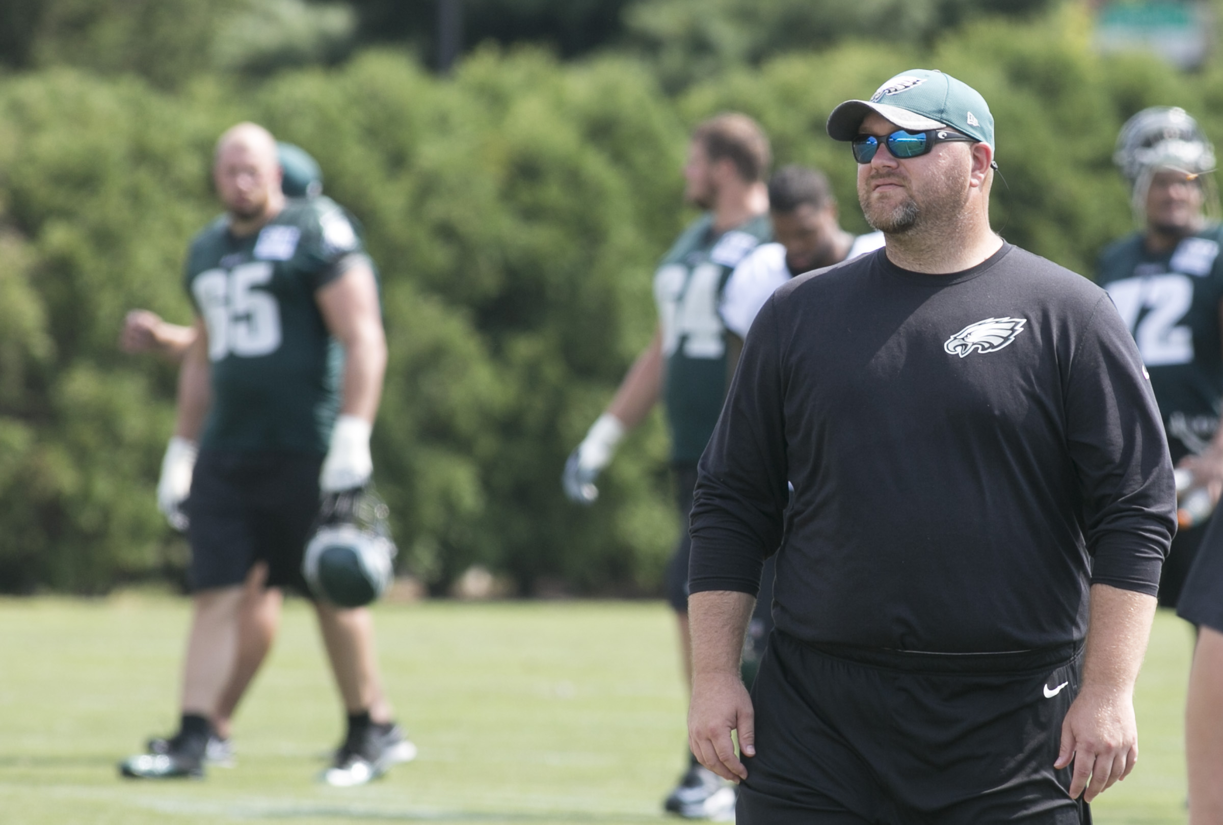"""Joe Douglas still looks like the offensive lineman he was during his college years at Richmond, a trait that can leave some surprised. """"People underestimate how smart Joe is,"""" one draft analyst said."""