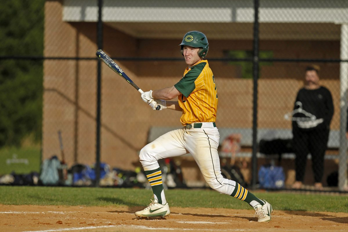 Clearview's Mike Decker knocks in the game-winning run against Highland Monday in Mullica Hill, NJ.