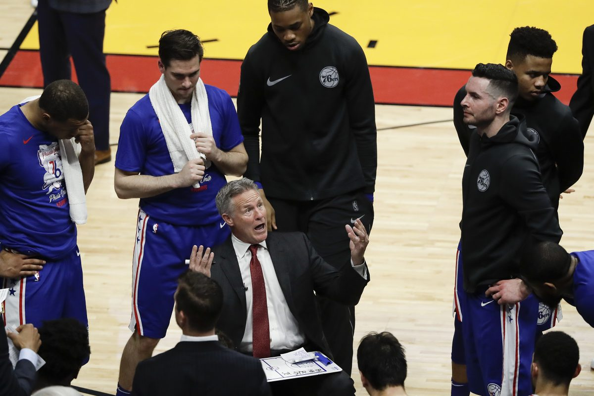 Head coach Brett Brown and the Sixers are one win away from clinching the franchise's first playoff series since 2012, and they have no reason to believe they should stop there.