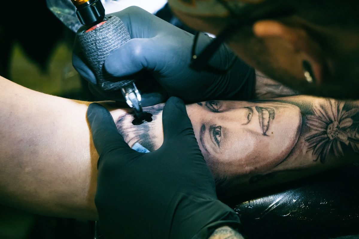 Tattoo ink and cremated ashes mix in living memorials philly for Ashes in tattoo ink