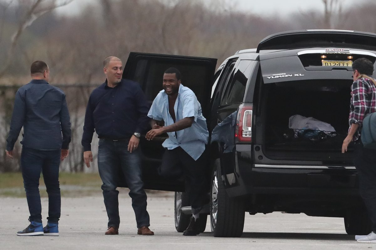 Meek Mill is released from State Correctional Institution Chester April 24, 2018.