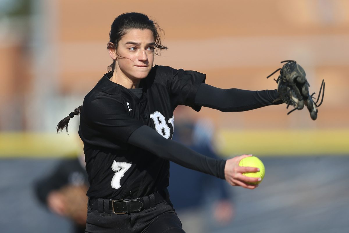 Izzy Kelly throws a pitch during a game against Timber Creek on April 20.