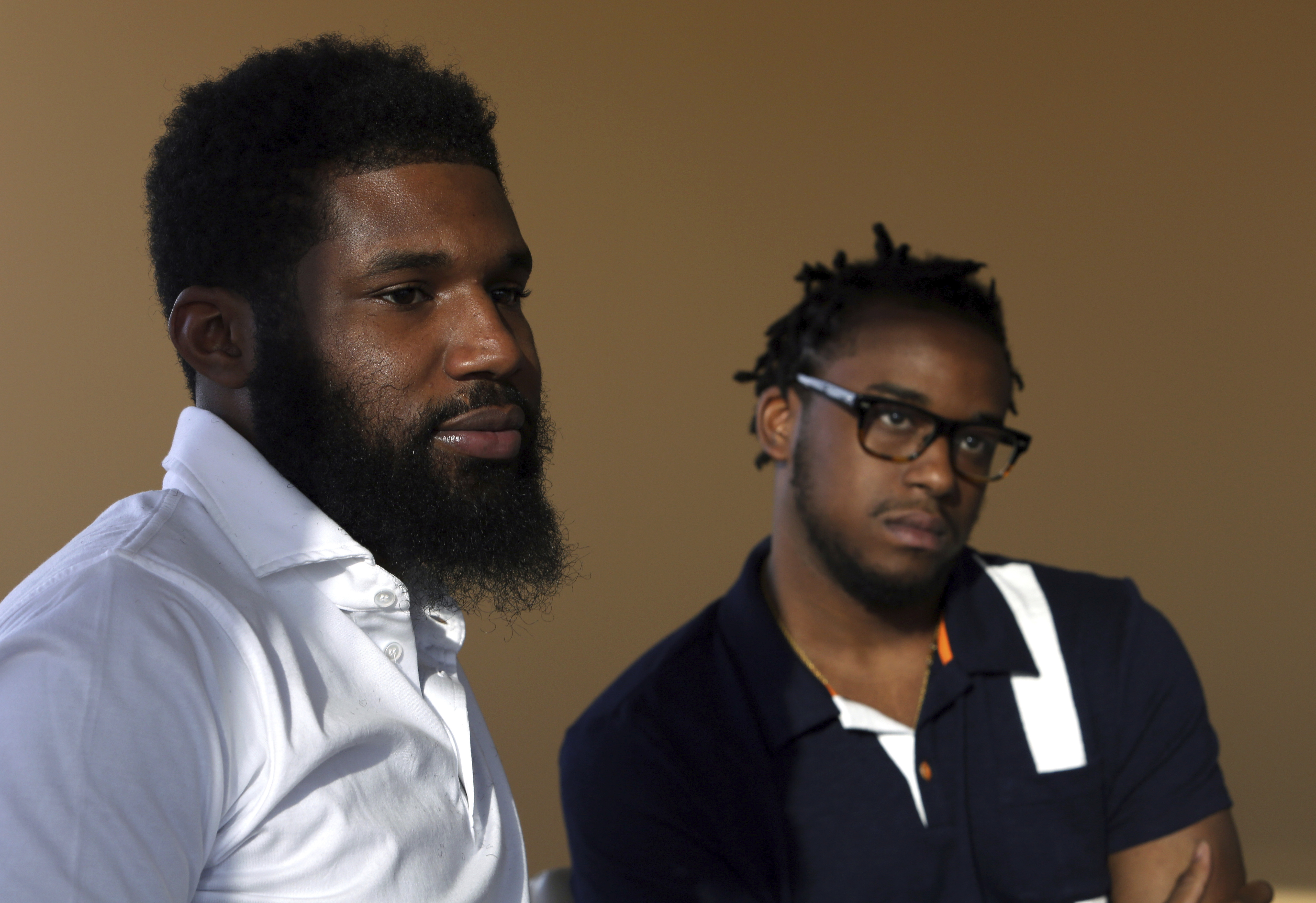 Rashon Nelson, left, and Donte Robinson, right, were arrested at a Philadelphia Starbucks on April 12.
