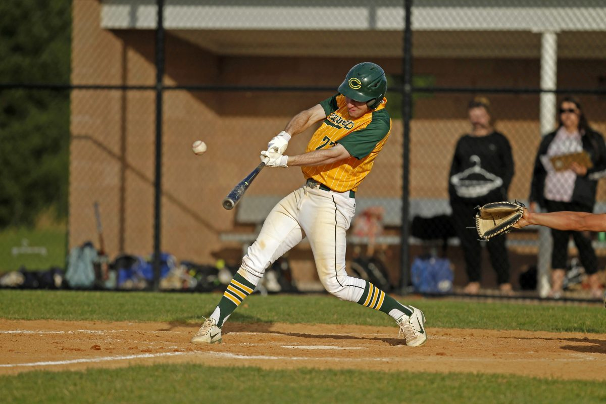 Mike Decker delivers the game-winning hit in Clearview's 6-5 victory over Highland on Tuesday.