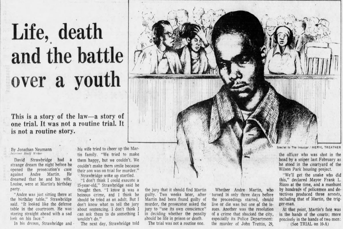 From the Inquirer on Sept. 26, 1976, coverage of the trial of Andre Martin.