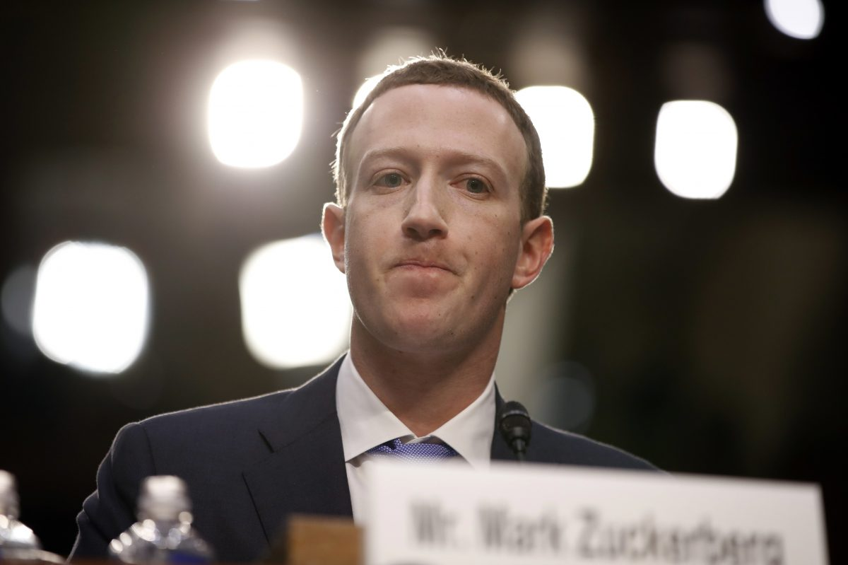 Facebook CEO Mark Zuckerberg testifies before a joint hearing of the Commerce and Judiciary Committees on Capitol Hill in Washington, Tuesday, April 10, 2018, about the use of Facebook data to target American voters in the 2016 election.