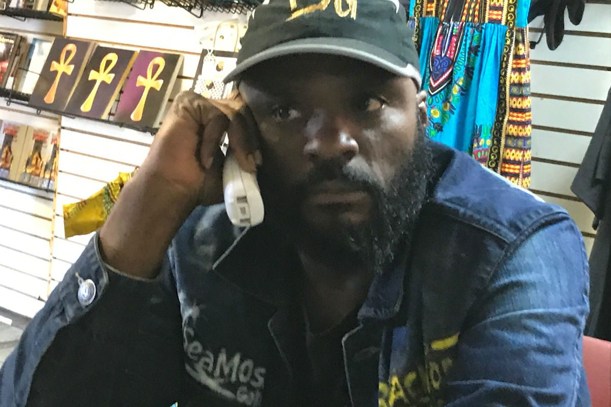 Hakim Hopkins got numerous phone calls at his Black and Nobel Bookstore Monday, June 26, 2017 after word got out that he may have to close the business. Young people helped him launch a Go  Fund Me campaign seeking $250,000.