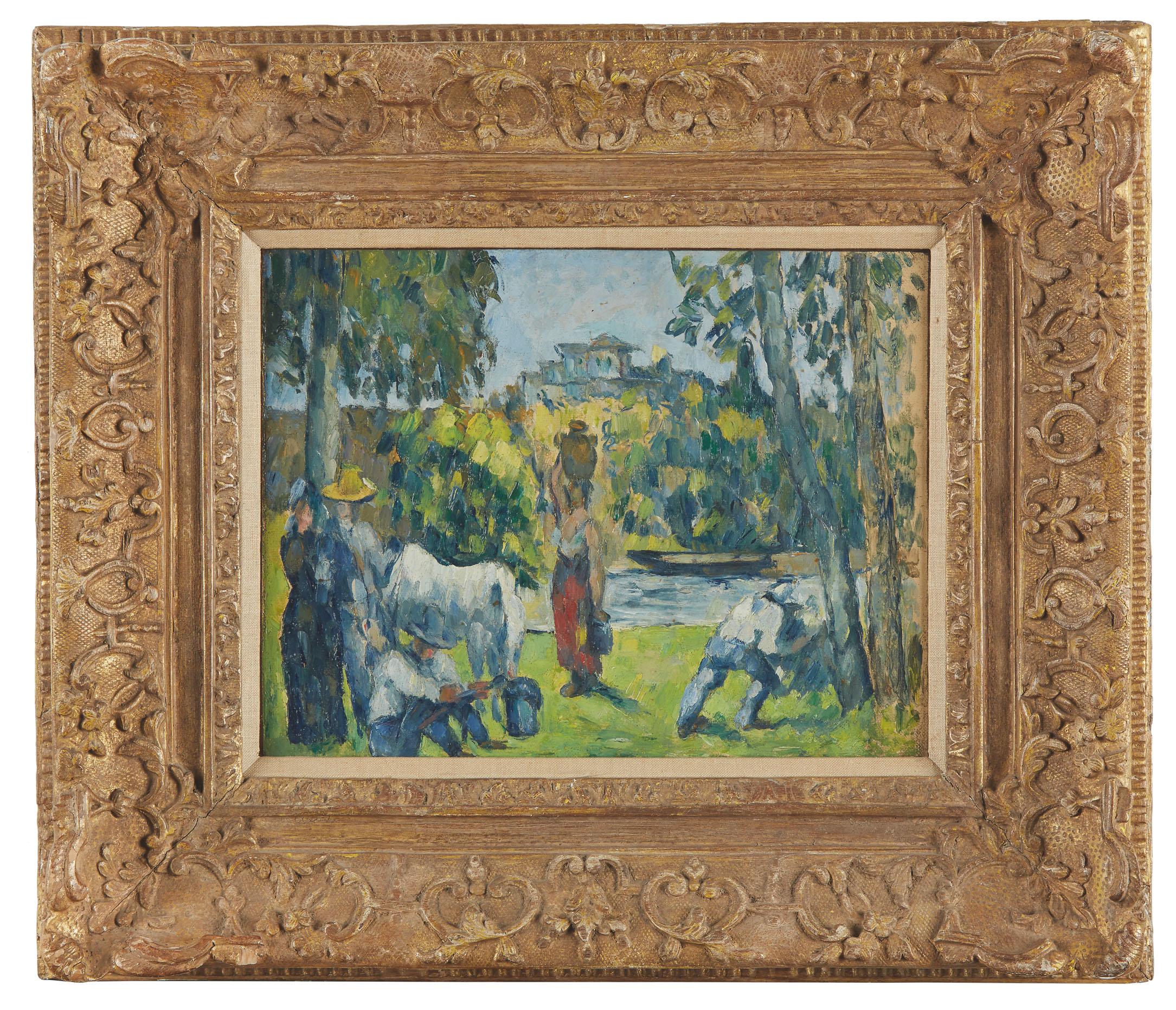 Part of Hamilton´s collection, Paul Cézanne's La Vie des Champs sold for 1,450,000 on Sunday (buyer´s premium included).