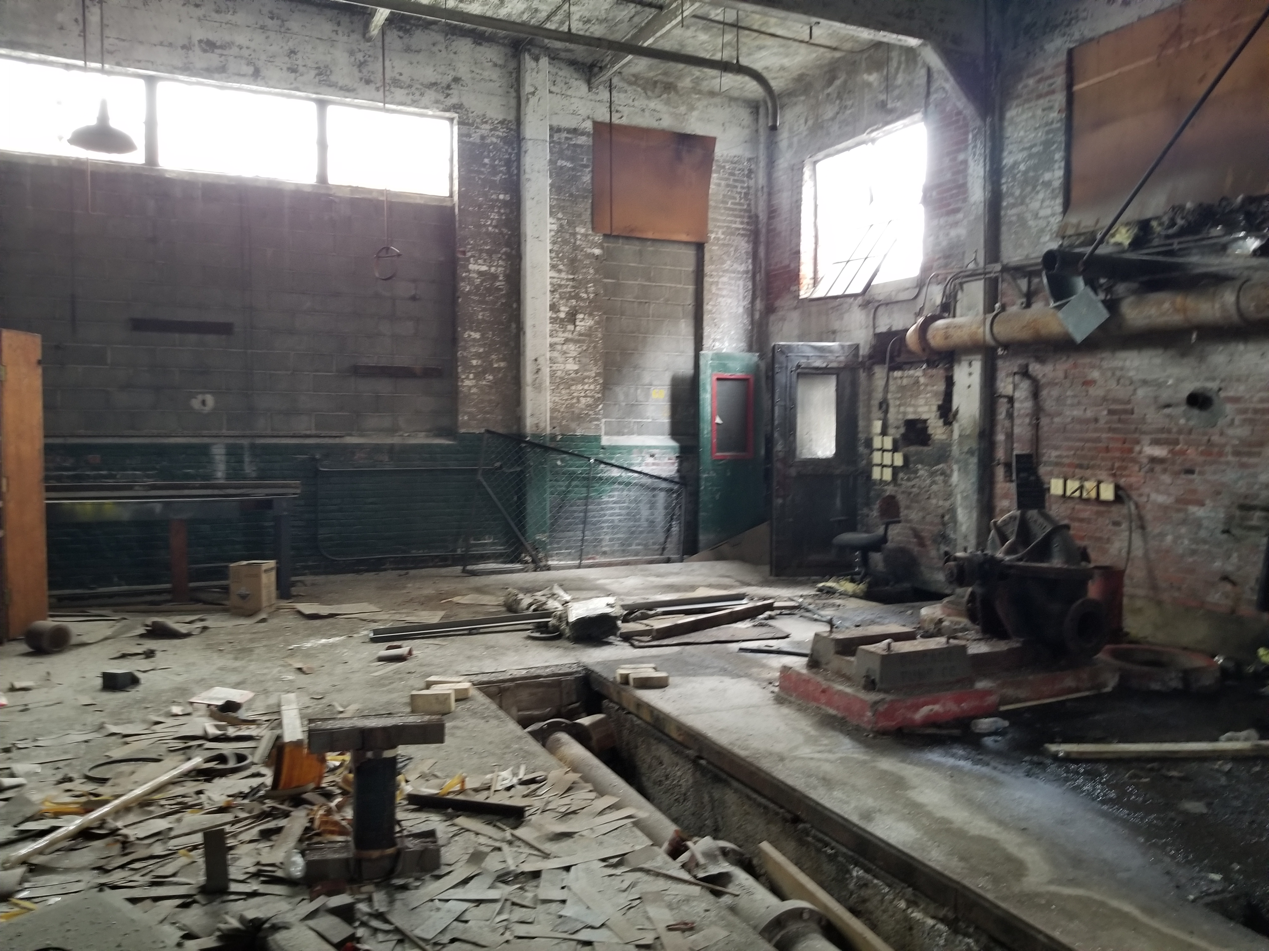 Just before Ori Feibush started demolition of the former Frankford Chocolate & Candy factory, this was the condition of the interior.