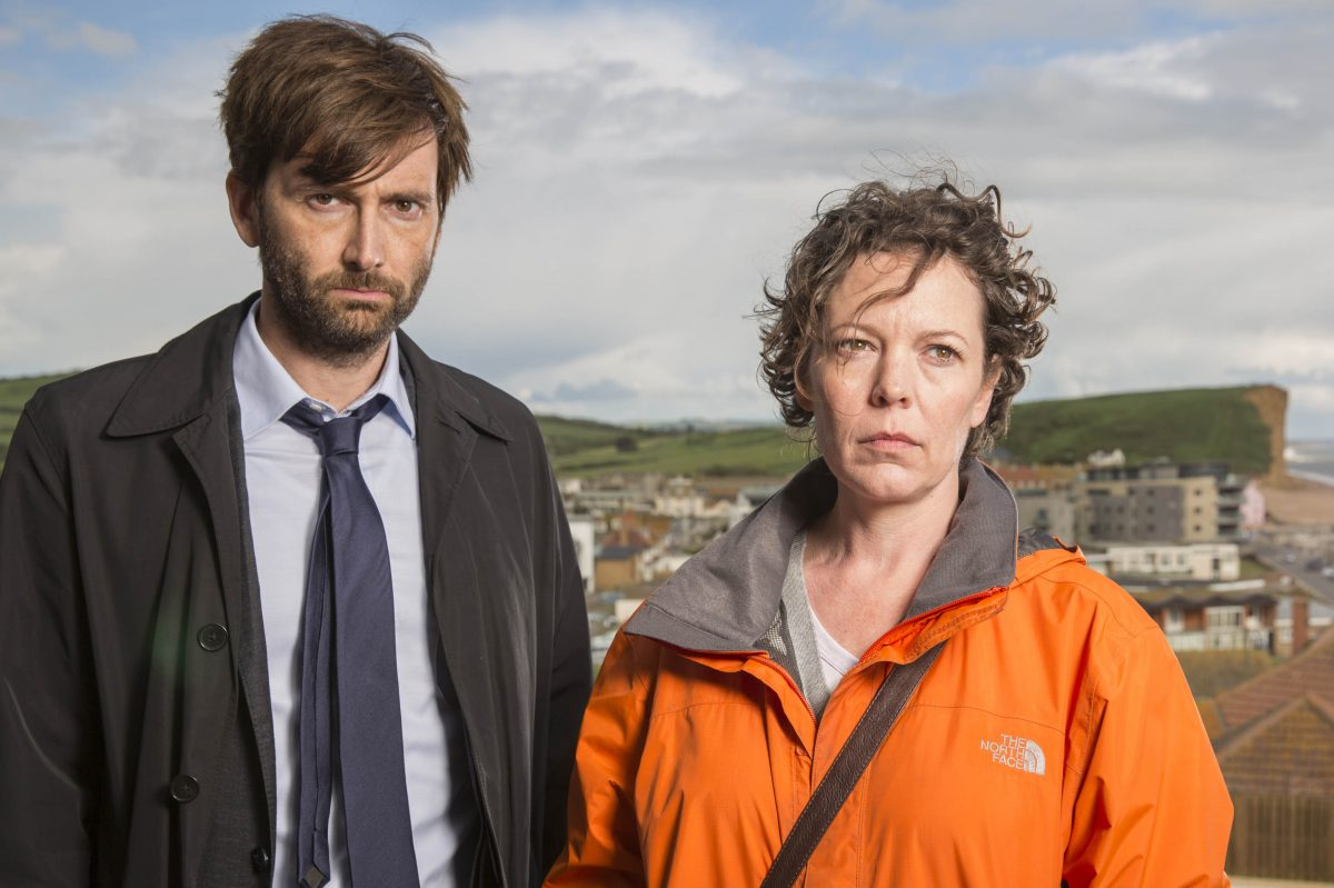 "David Tennant and Olivia Colman star in ""Broadchurch,"" which  begins its final season on BBC America at 10 p.m. Wednesday."