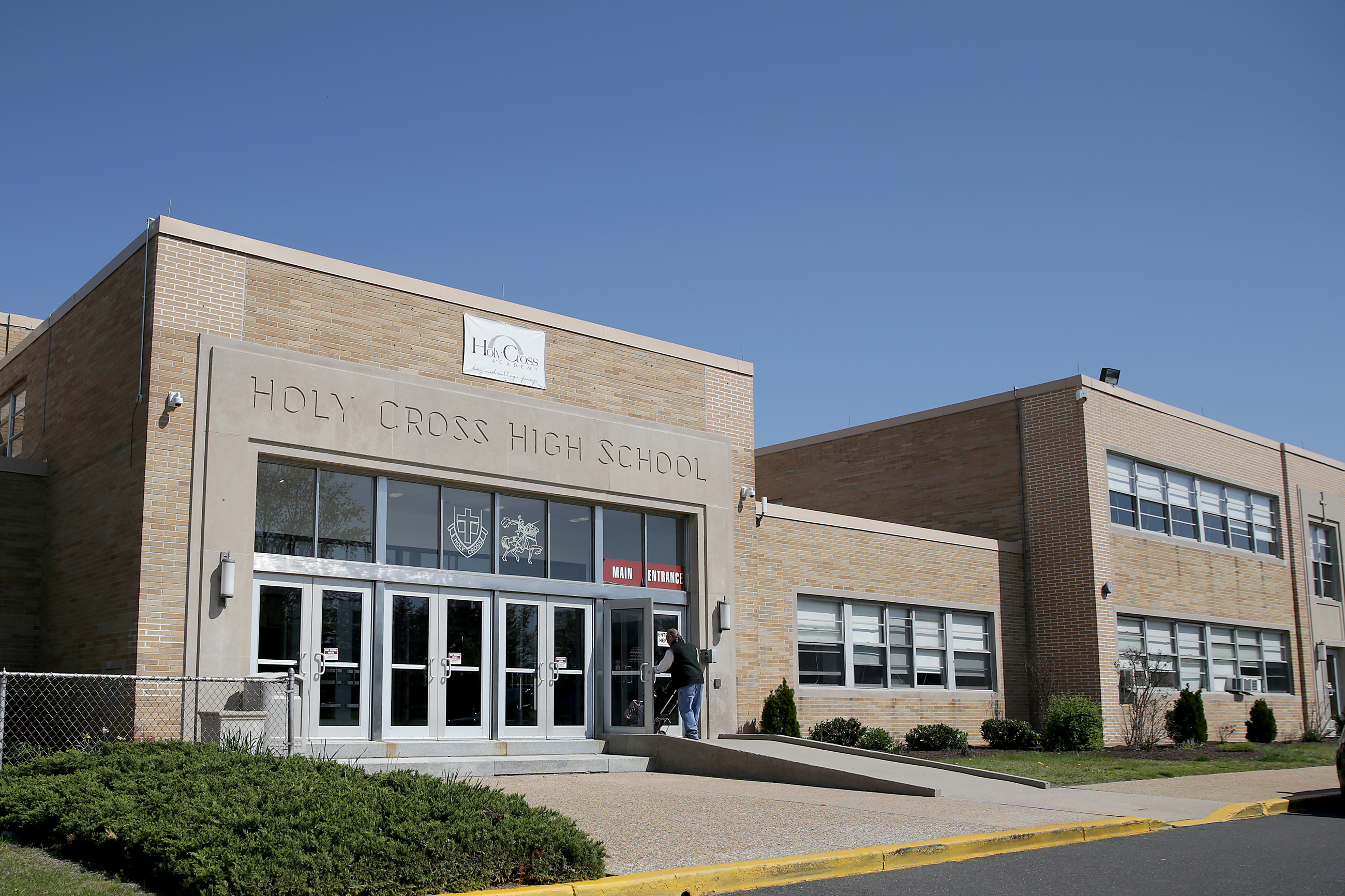 An exterior view of Holy Cross Academy in Delran, NJ.