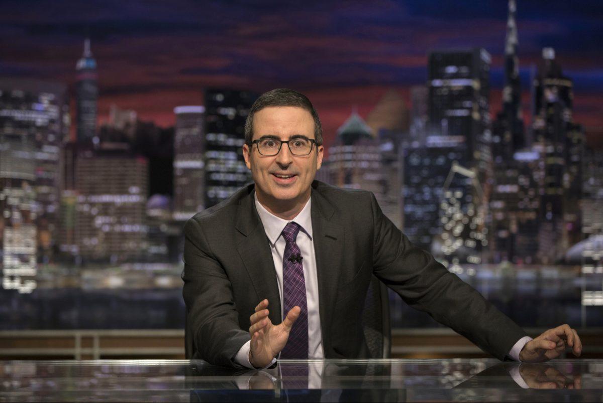 "John Oliver on ""Last Week Tonight with John Oliver"" on HBO."