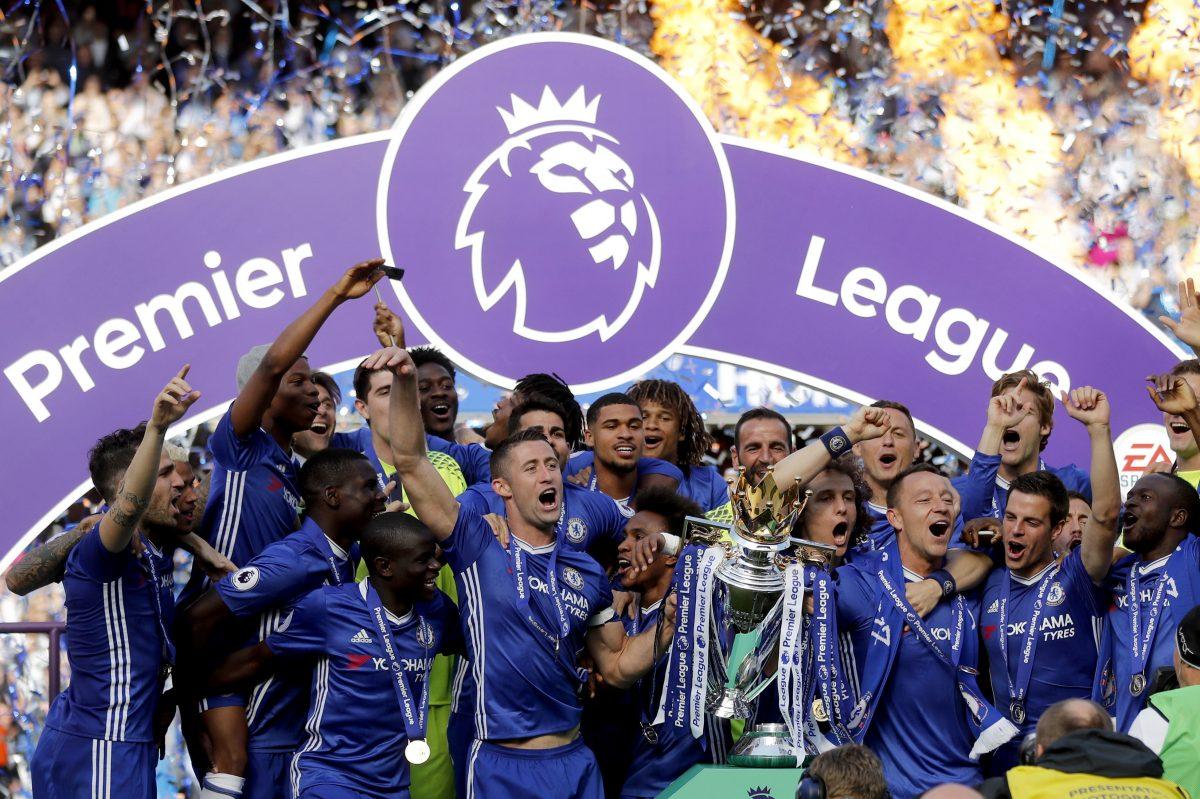 Chelsea won this past season's English Premier League soccer title.