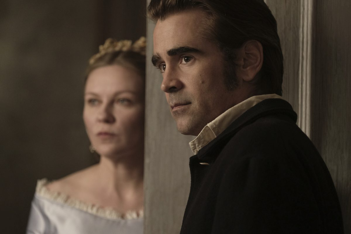 "Kirsten Dunst and Colin Farrell in a scene from ""The Beguiled."""