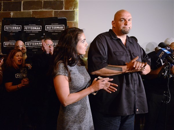 Longtime Braddock, Pa. Mayor John Fetterman is running for lieutenant governor, intending to dislodge incumbent Lt. Gov. Mike Stack, who has been at odds with Gov. Wolf.