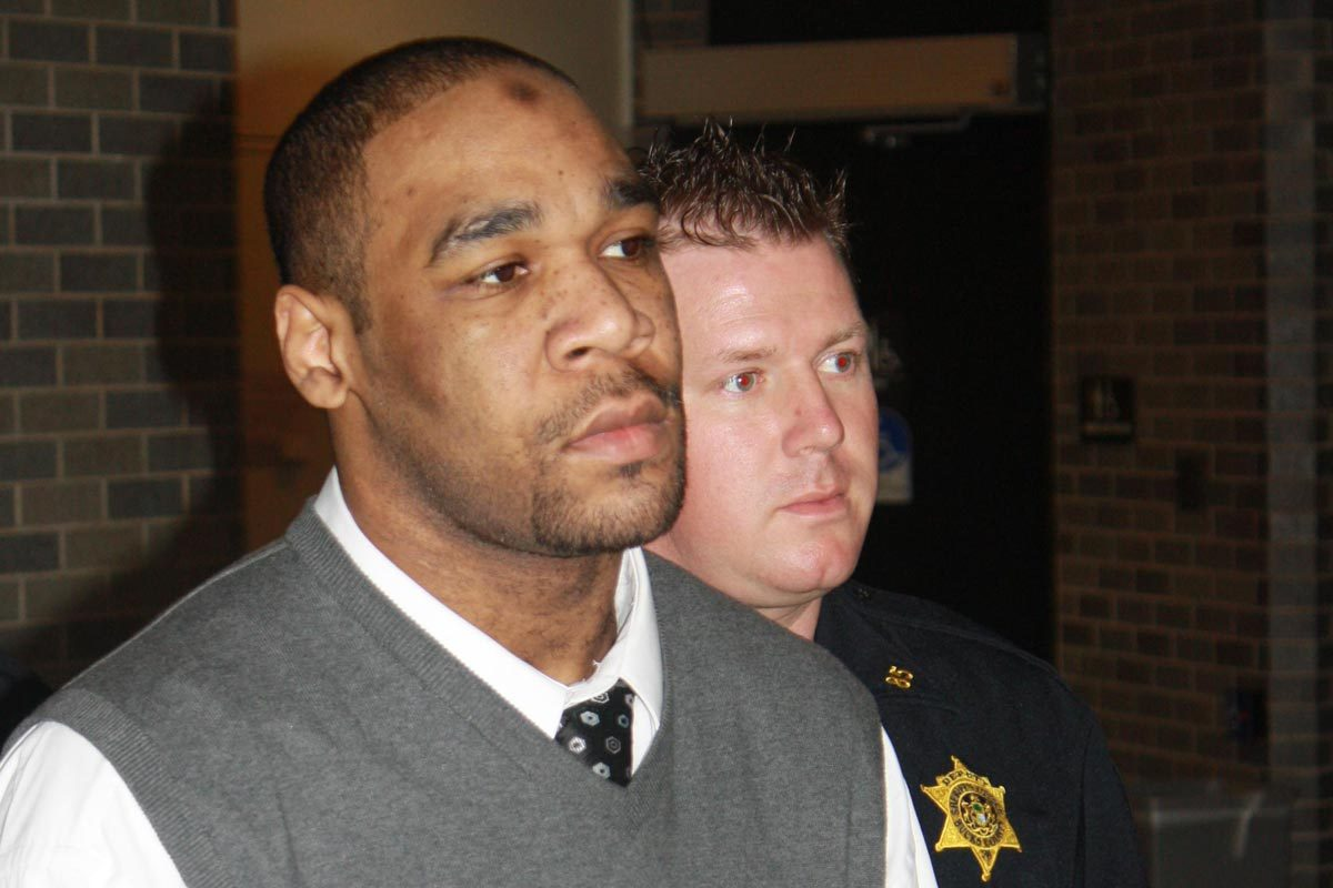 Omar Sharif Cash being led to his trial at the Bucks County Courthouse by sheriff's deputies in this 2010 file photo.