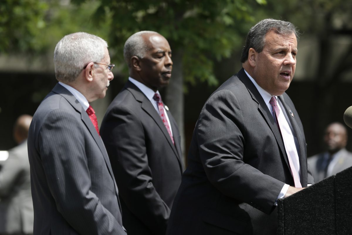 Gov. Christie speaks at a news conference in Trenton on Tuesday.