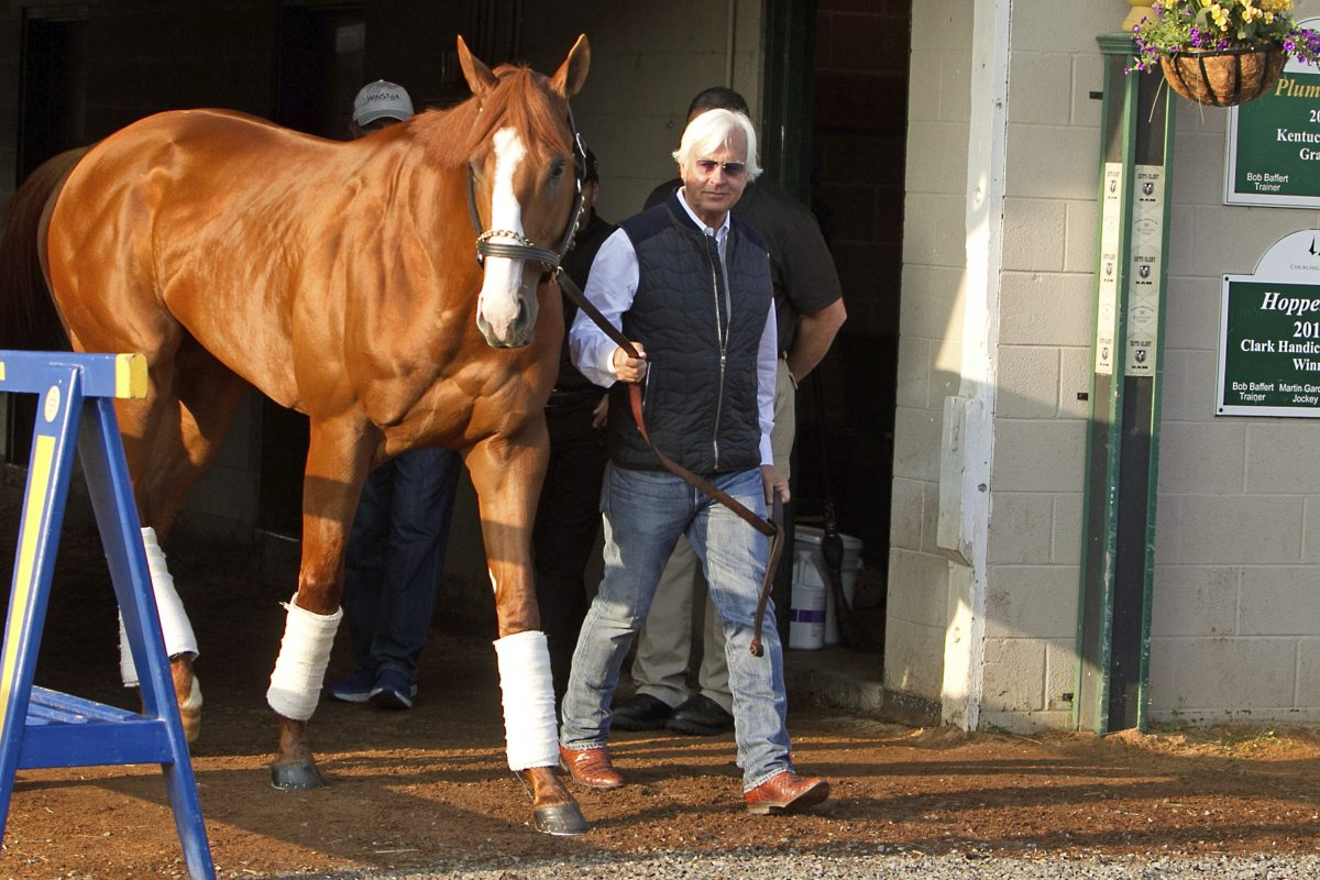 are justify and bob baffert on the right track to horse