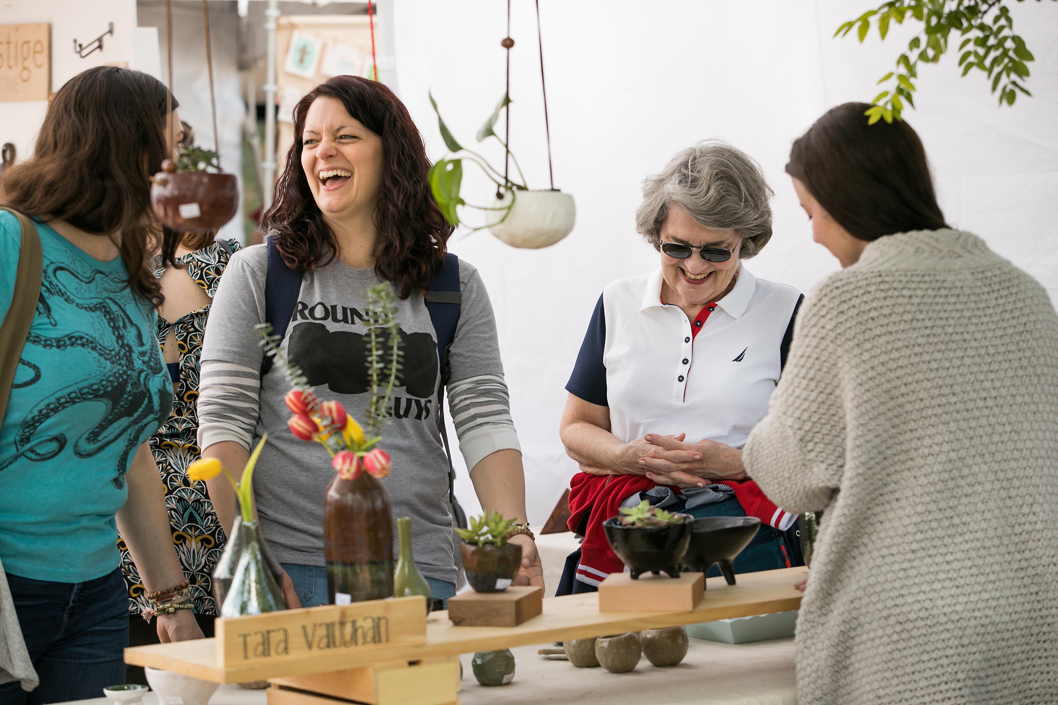 Shoppers at the Art Star Craft Bazaar