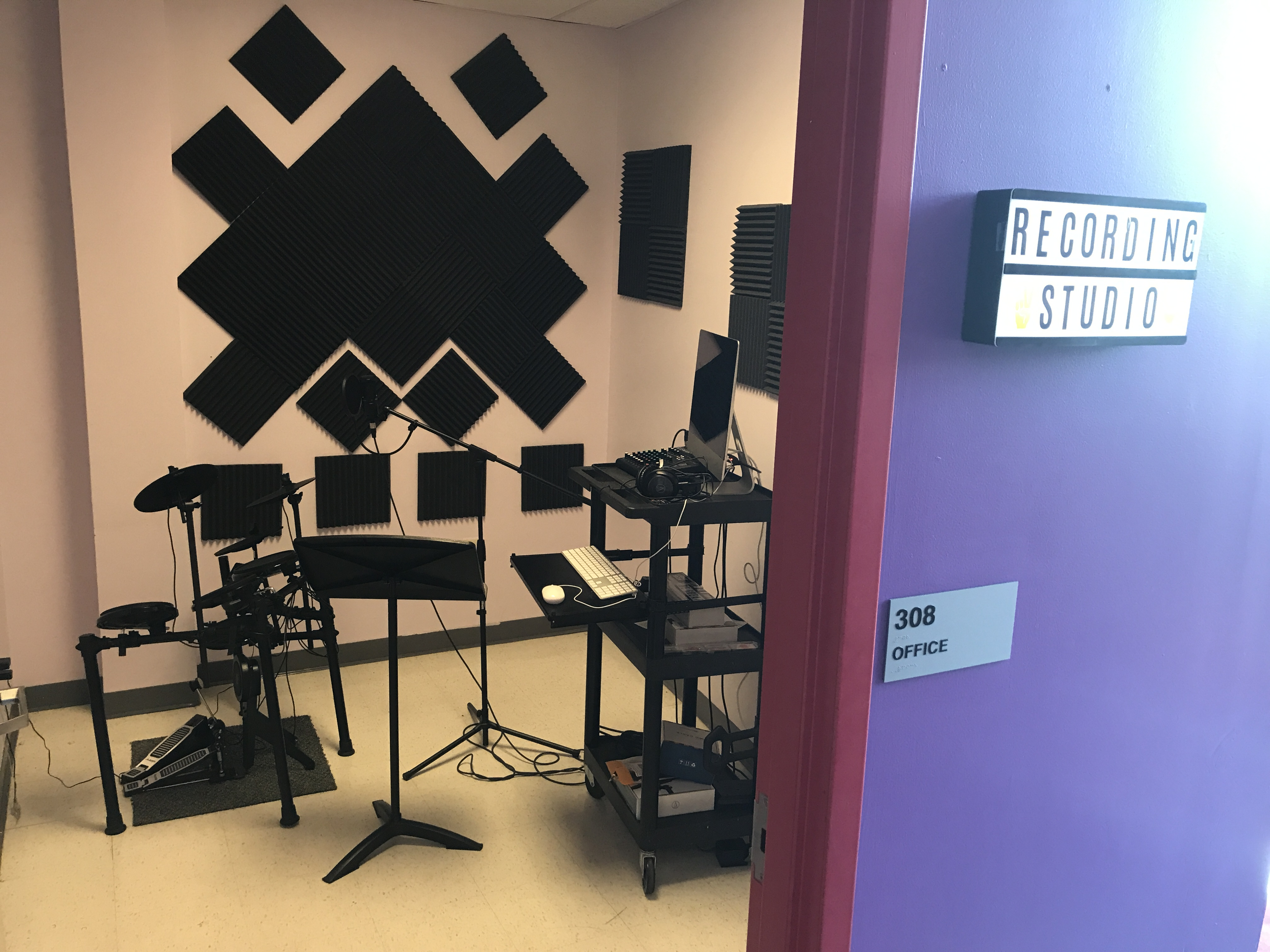Students at First Philadelphia Preparatory Charter School voted to build a music studio with $2,500 in grant funds.