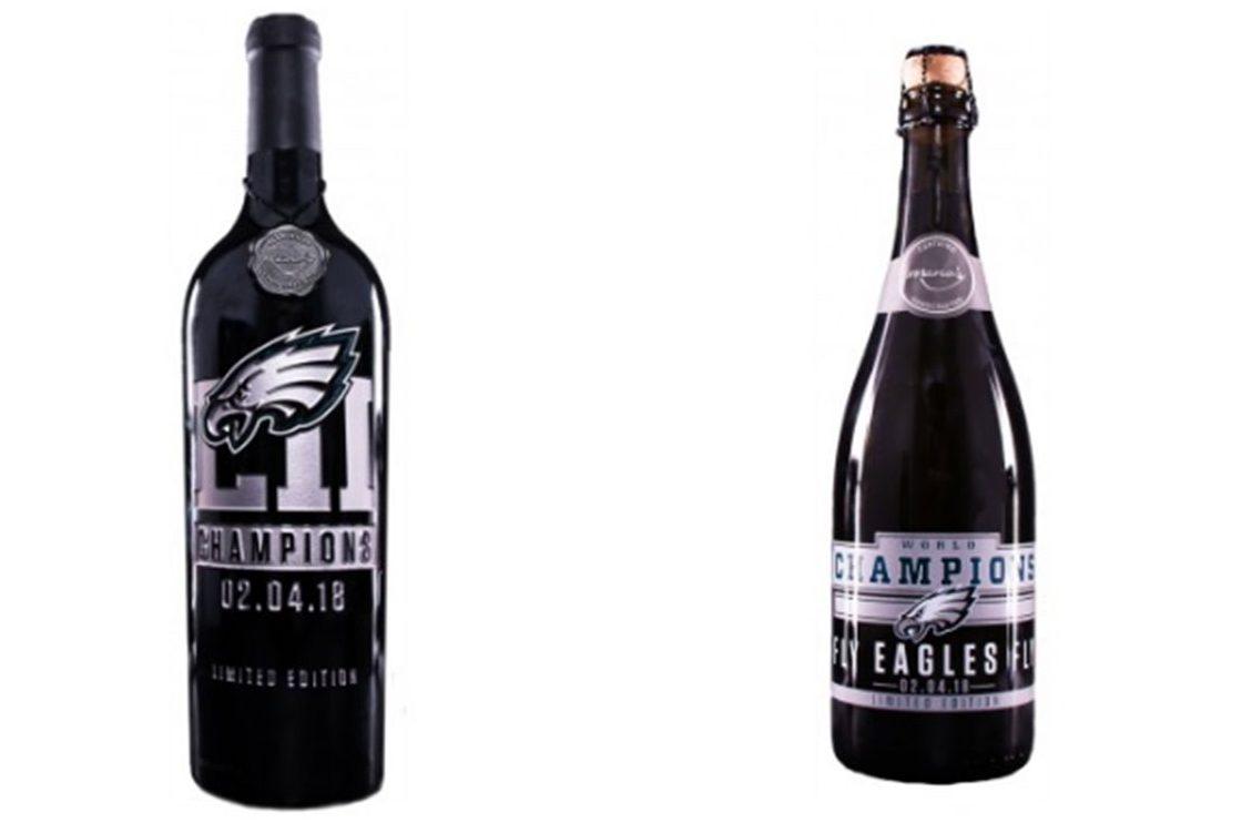 Eagles unveil commemorative super bowl wines philly for Super u champagne