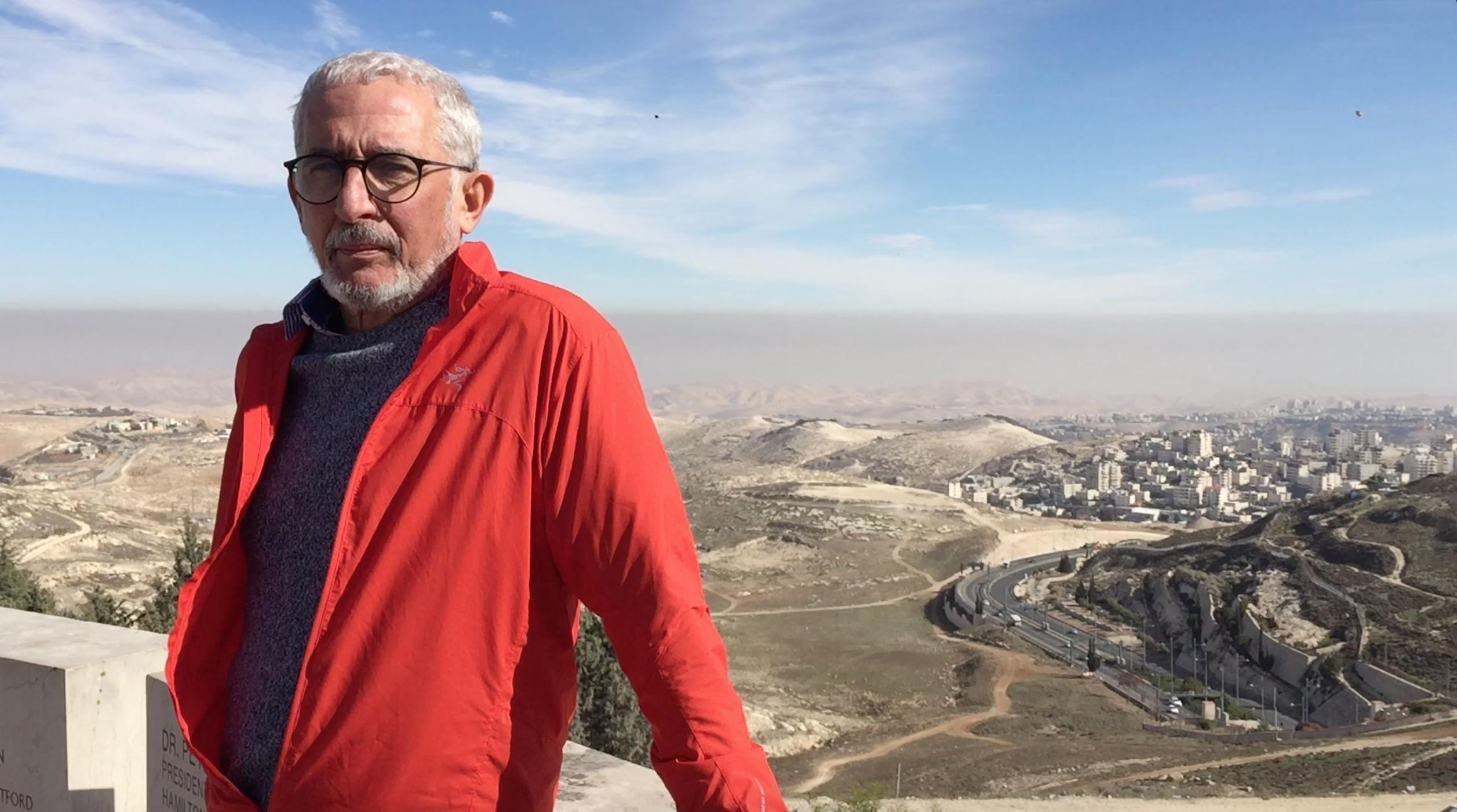 Danny Seidemann Jerusalem expert and director of Terrestial Jerusalem, looking over the city
