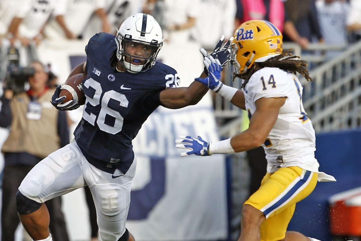 Saquon Barkley scored two touchdowns in Penn State's win over Pitt last season at Beaver Stadium.