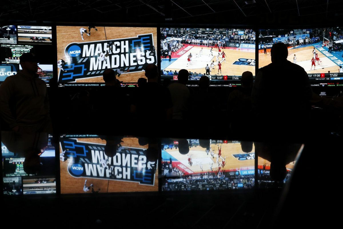 At the Westgate Superbook sports book in Las Vegas, people watched in March coverage of the first round of the NCAA college basketball tournament. The Supreme Court has struck down a federal law that bars gambling on football, basketball, baseball and other sports in most states, giving states the go-ahead to legalize betting on sports.