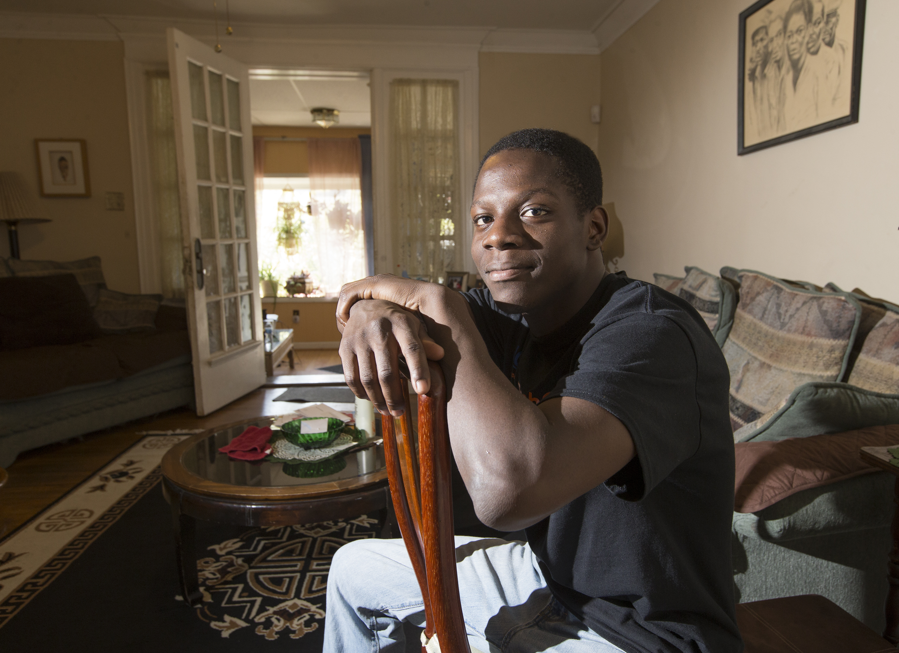 Sharif Cook-Riley, 21, recently earned his high-school equivalency and has a good-paying internship in IT.