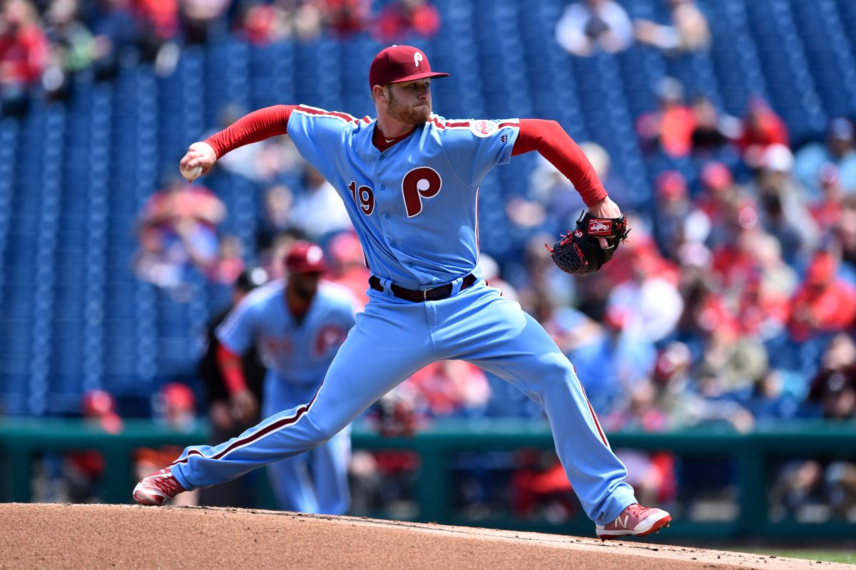 Ben Lively, pictured in his start against Arizona back on April 26, struck out five and allowed two hits through six innings for triple A Lehigh Valley Friday.