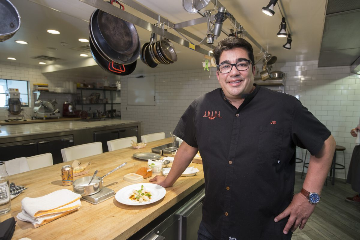 Chef Jose Garces in his test kitchen at 2401 Walnut St. on April 25, 2018.
