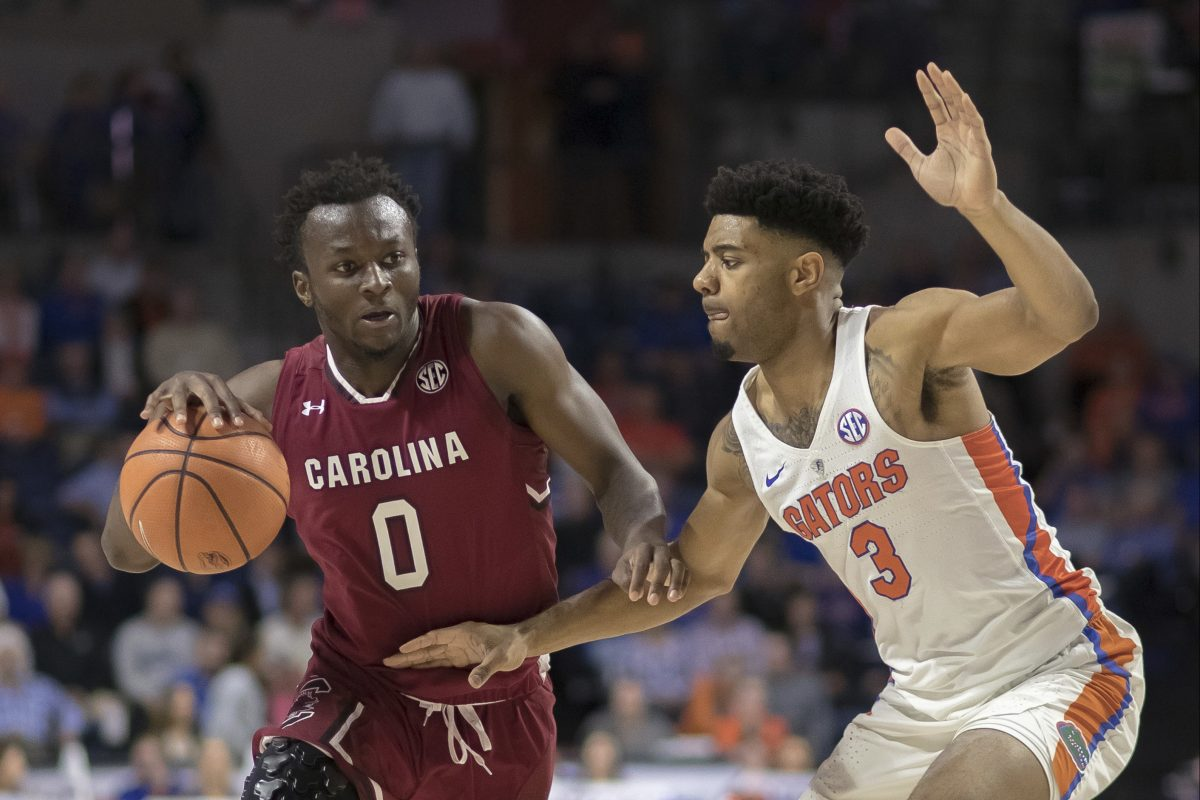 David Beatty (left) averaged 3 points per game off the bench for the Gamecocks last season.