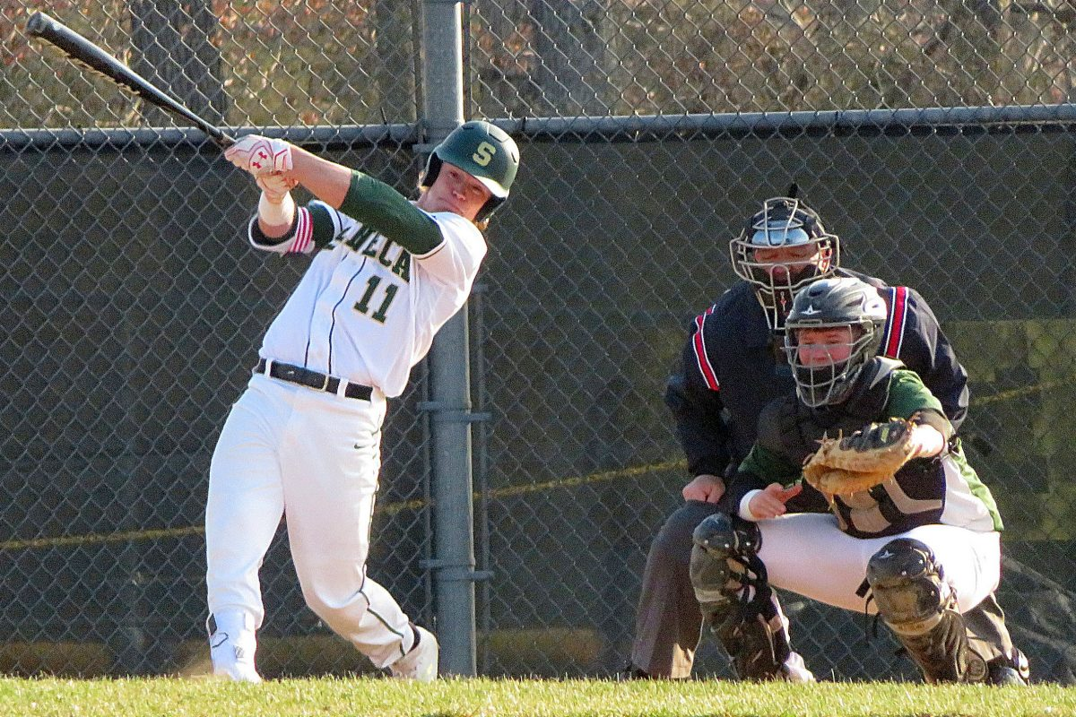 Seneca outfielder Nick Decker hit two home runs Monday in an 8-4 win over Absegami.