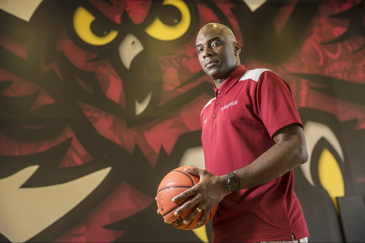 Aaron McKie, one-time Temple basketball player and assistant coach, now head coach-in-waiting.