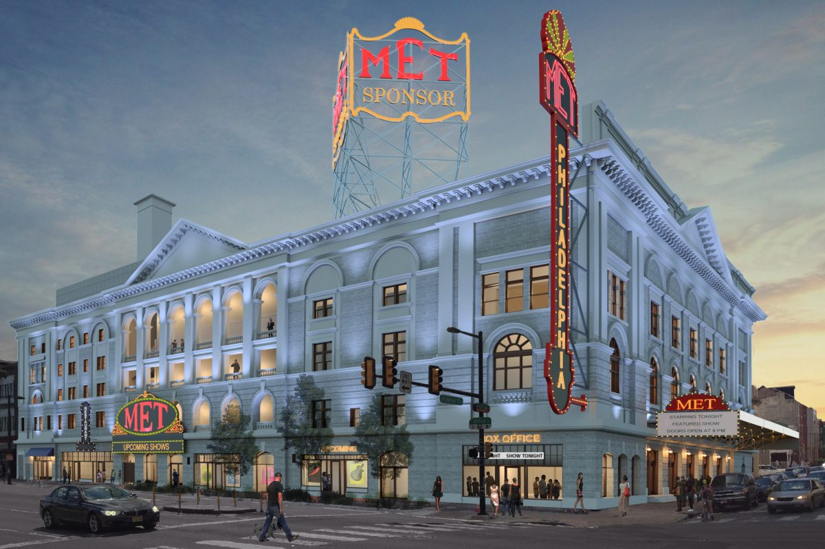 Artist´s rendering of Metropolitan Opera House at 858 N. Broad St. following renovations. Credit: Atkin Olshin Schade Architects